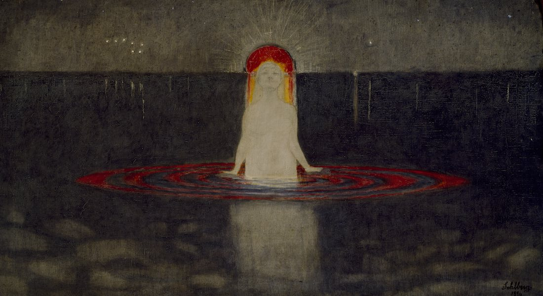 The Mermaid by Harald Sohlberg at Dulwich Picture Gallery