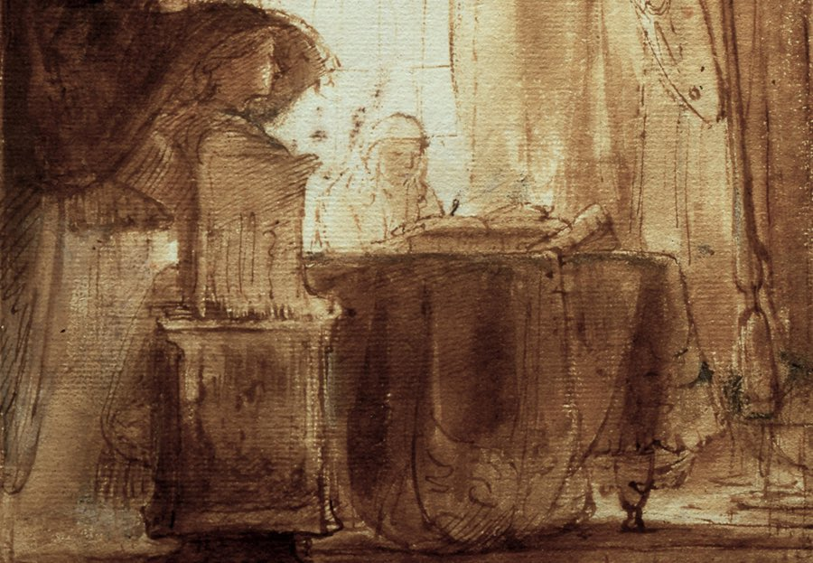 Rembrandt drawings at Dulwich Picture Gallery
