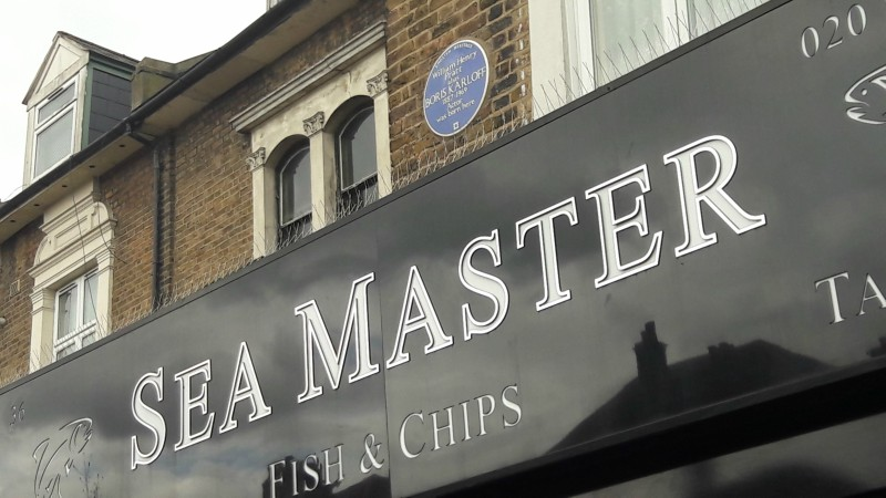 Birthplace of Boris Karloff. Sea Master on Forest Hill Road, East Dulwich