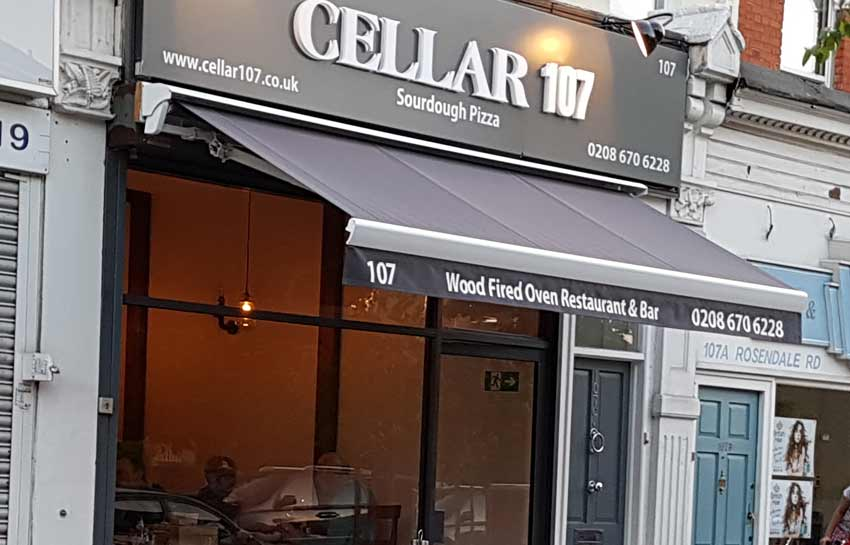 cellar 107 wood oven pizza west dulwich