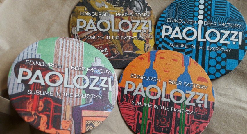 paolozzi beer mats